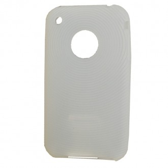 Coque iPhone 3G / 3GS Silicone Blanc translucide