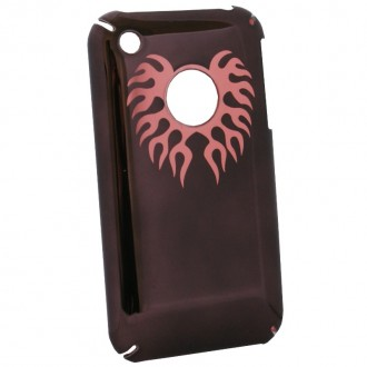 Coque iPhone 3G / 3GS marron logo apparent