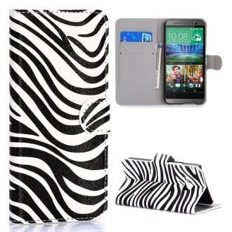 Etui HTC One M9 motif Zébré noir et blanc