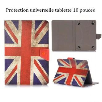Etui tablette universel 10 pouces drapeau UK vintage