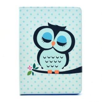 Etui iPad Air 2 motif Chouette Bleue