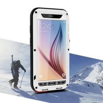 Coque Galaxy S6 Etanche Antichocs Aluminium Blanche - LOVE MEI
