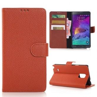 Etui Galaxy Note 4 Simili-cuir Marron