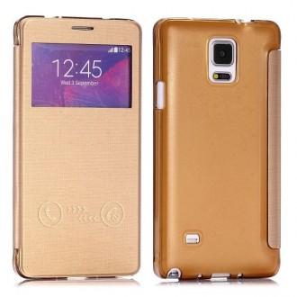 Etui flip Galaxy Note 4 Doré