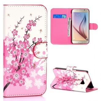 Crazy Kase - Etui Galaxy S6 Edge Motif Fleur Japonnaise