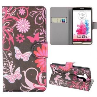 Crazy Kase - Etui LG G3 Motif Papillons et Fleurs