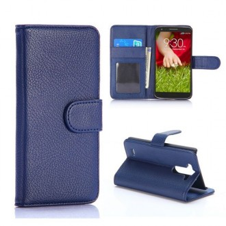 Crazy Kase - Etui LG G3s Simili-cuir Bleu Nuit