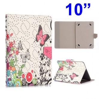Crazy Kase - Etui tablette universel 10 pouces motif Papillons et paillettes