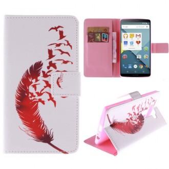 Crazy Kase - Etui LG G4 Motif Plume et envol d'oiseaux