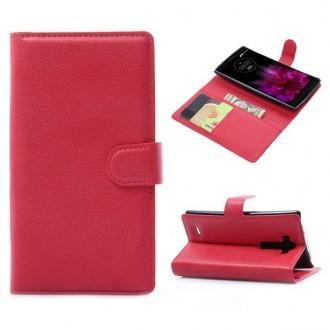 Crazy Kase - Etui LG G Flex 2 Simili-cuir Rouge