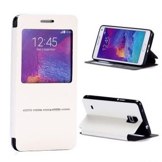 Crazy Kase - Etui Galaxy Note 4 Simili-cuir Blanc