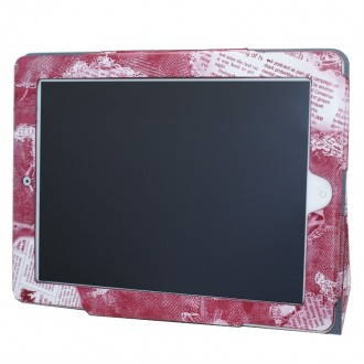 Etui imprimé rose support TV pour iPad 2/3/4