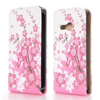 Crazy Kase - Etui HTC One Mini 2 motif Fleurs Japonnaises