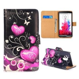 Crazy Kase - Etui LG G3 Motif Coeurs et Papillons