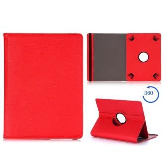 Crazy Kase - Etui tablette universel 10 pouces Rotatif 360° Rouge
