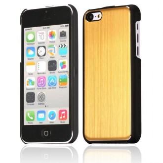 Crazy Kase - Coque iPhone 5C noire et Aluminium brossé doré