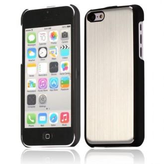 Crazy Kase - Coque iPhone 5C noire et Aluminium brossé argent