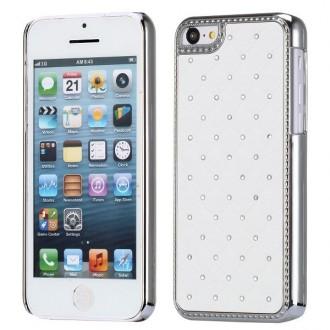 Crazy Kase - Coque iPhone 5C avec strass sur fond Blanc