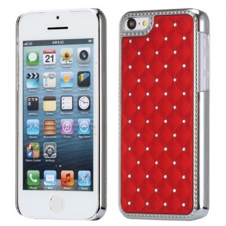 Crazy Kase - Coque iPhone 5C avec strass sur fond Rouge