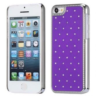 Crazy Kase - Coque iPhone 5C avec strass sur fond Violet