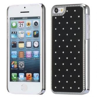 Crazy Kase - Coque iPhone 5C avec strass sur fond Noir