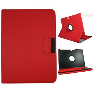 Etui Galaxy Tab 4 10.1 Rotatif 360° rouge