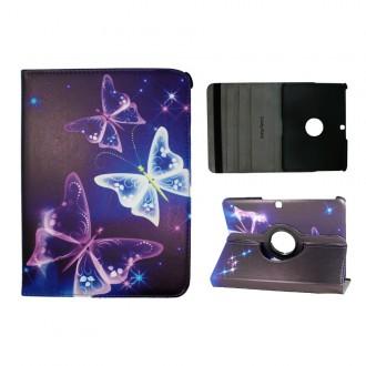 Crazy Kase - Etui Galaxy Tab 4 10.1 rotatif 360° motif papillons