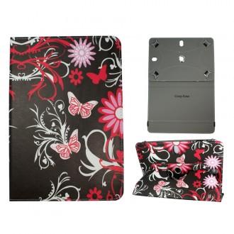 Crazy Kase - Etui tablette universel 10 pouces rotatif 360° Motifs Papillons et Fleurs