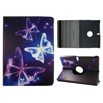 Crazy Kase - Etui Galaxy Tab S 10.5 Rotatif 360° Papillons