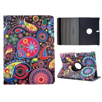 Crazy Kase - Etui Galaxy Tab S 10.5 Rotatif 360° Motifs colorés