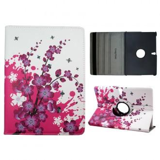 Crazy Kase - Etui Galaxy Tab S 10.5 Rotatif 360° Fleurs Japonaises