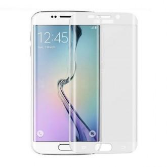 Film Galaxy S6 Edge protection écran verre trempé incurvé contour Blanc
