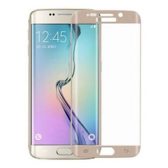 Film Galaxy S6 Edge Plus protection écran verre trempé incurvé contour Doré