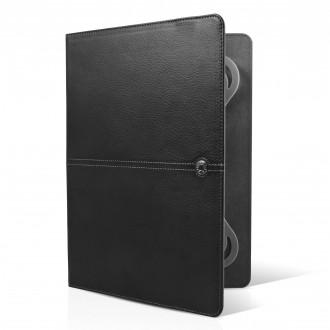 Etui tablette universel 9 / 10 cuir noir - Façonnable
