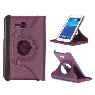 Crazy Kase - Etui Galaxy Tab 3 Lite 7.0 Rotatif 360° Violet
