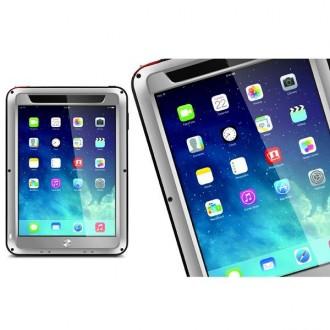 Coque iPad Mini 1 / 2 / 3 Etanche Antichocs Aluminium Grise - LOVE MEI