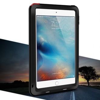 Coque iPad Mini 4 Etanche Antichocs Aluminium Noire - LOVE MEI