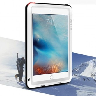 Coque iPad Mini 4 Etanche Antichocs Aluminium Blanche - LOVE MEI
