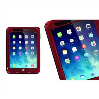 Coque iPad Mini 1 / 2 / 3 Etanche Antichocs Aluminium Rouge - LOVE MEI