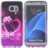 Coque Galaxy S7 Edge motif Coeur et Fleurs - Crazy Kase