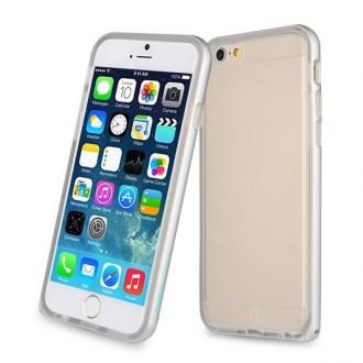 Coque iPhone 6 / 6s Transparente avec bumper argenté - Baseus