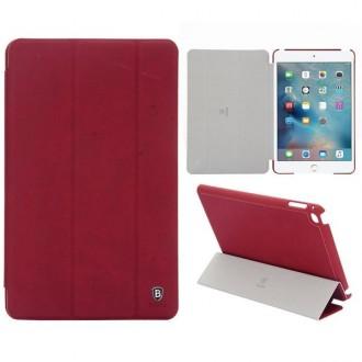 Etui iPad Mini 4 Bordeau avec fonction veille - Baseus