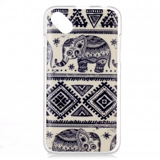 Coque Wiko Sunset 2 motif Eléphants - Crazy Kase
