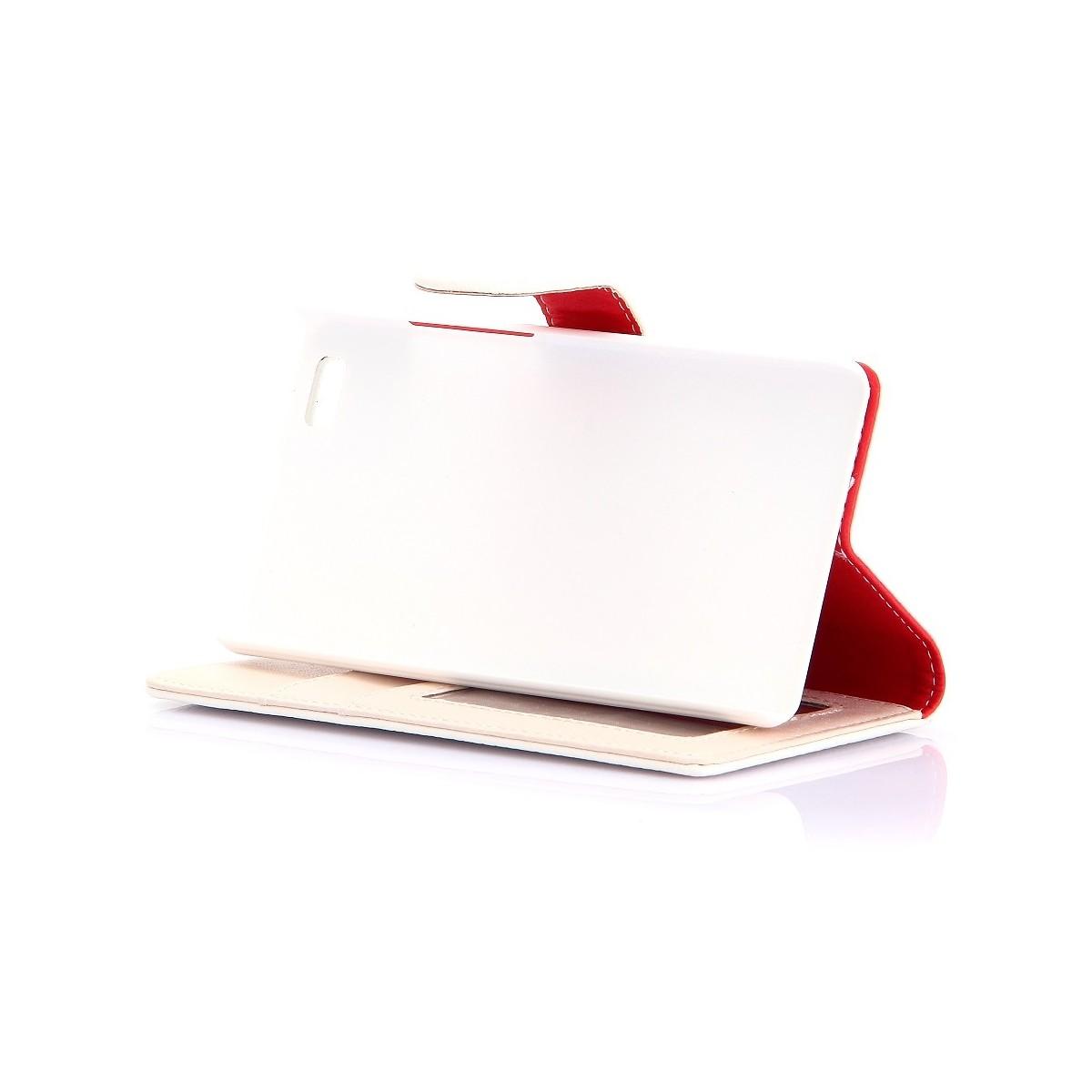 Etui Huawei P8 Lite Portecartes Blanc - Crazy Kase