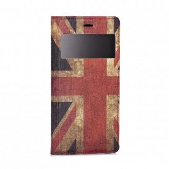 Etui Huawei P8 Lite avec fenêtre de visualisation motif Drapeau UK - Crazy Kase