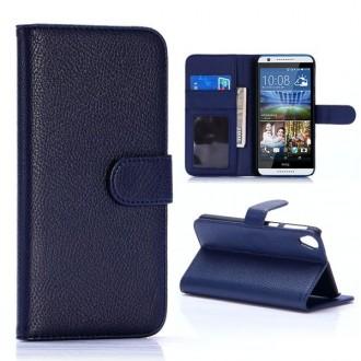 Etui HTC Desire 820 Portecartes Bleu Nuit - Crazy Kase