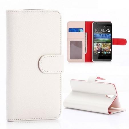 Etui HTC Desire 620 Portecartes Blanc - Crazy Kase
