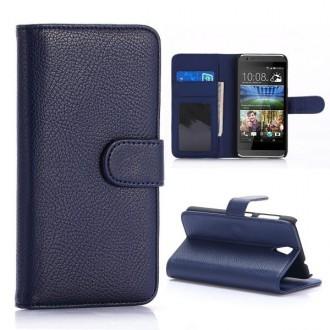 Etui HTC Desire 620 Portecartes Bleu Nuit - Crazy Kase