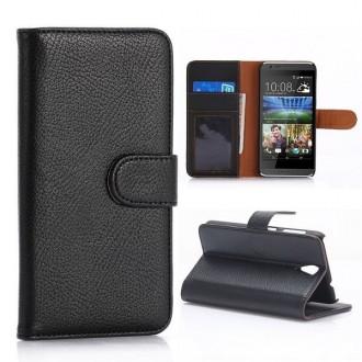 Etui HTC Desire 620 Portecartes Noir - Crazy Kase