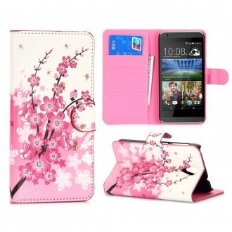 Etui HTC Desire 620 motif Fleurs Japonaises - Crazy Kase